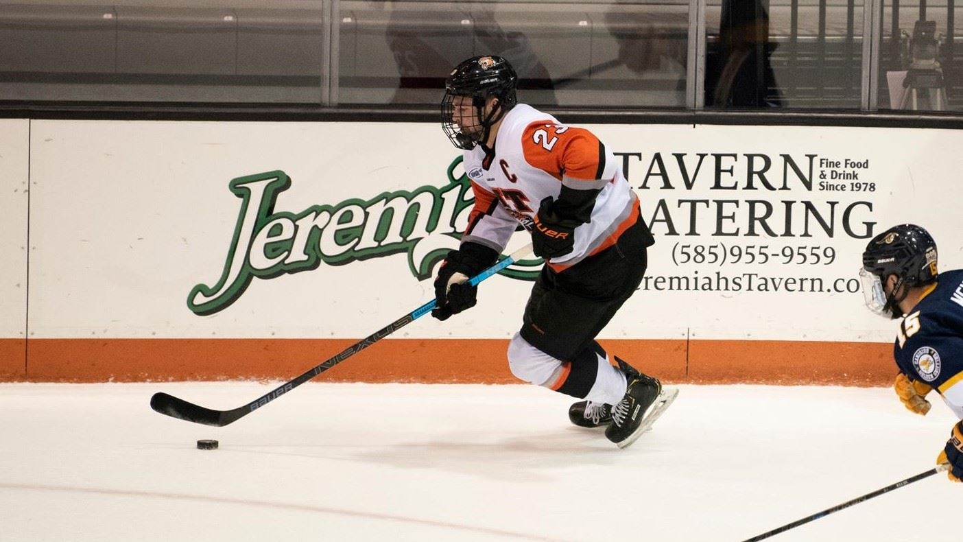 RIT blows lead in third period, falls at Holy Cross, 4-3