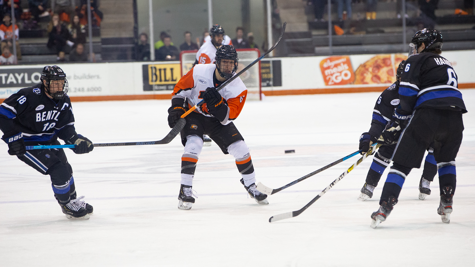 an RIT men's hockey player