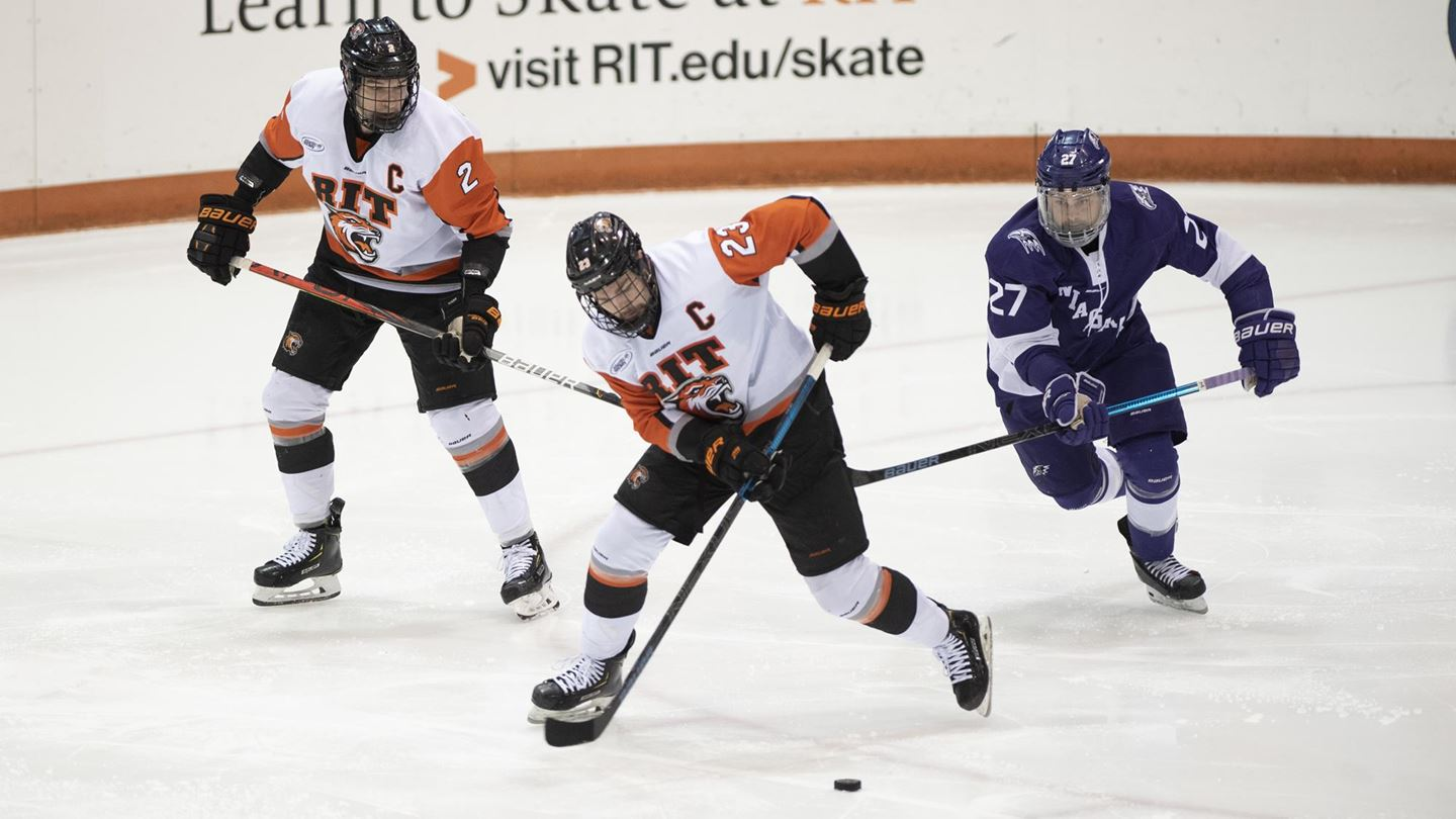 RIT earns 3-2 OT comeback win over Niagara; clinches Atlantic Hockey top-4 seed