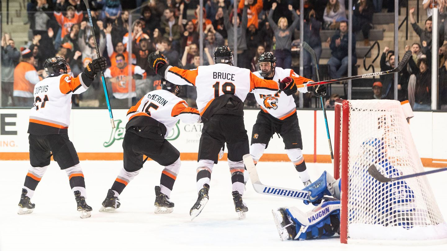 RIT defeats Air Force, 5-3; clinches third seed for Atlantic Hockey Tournament